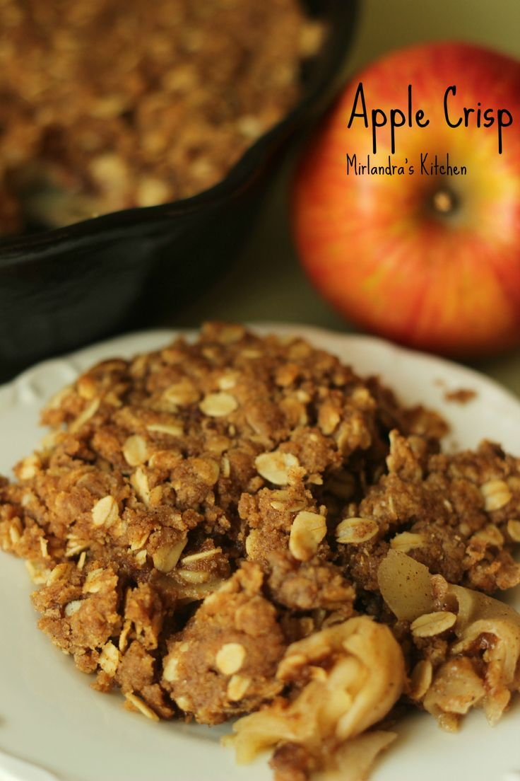 Not all Apple Crisp is created equal.  This one is top notch.  This recipe is rich, buttery, and full of cinnamon.  Also, check out my trick for perfect apples in the crisp.