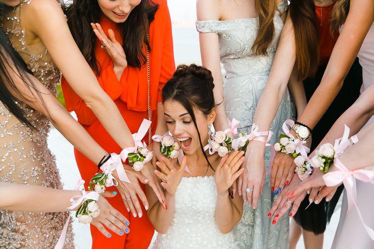 wedding bride friends