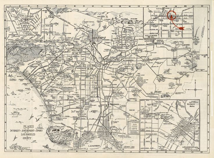 Best Los Angeles Maps Images On Pinterest Los Angeles - Map of the us labeled los angeles