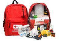 Red Cross disaster emergency kit