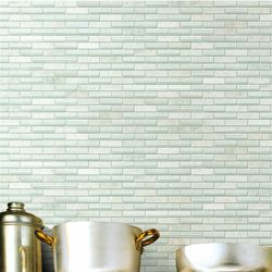 @Overstock - Remodel your home with this translucent glass tile for your kitchen, bath or backsplash. This wall tile comes in tones of white and green.  http://www.overstock.com/Home-Garden/SomerTile-12x12-in-Reflections-Subway-5-8x2-in-Ming-Glass-Stone-Mosaic-Tile-Pack-of-10/5318587/product.html?CID=214117 $116.83