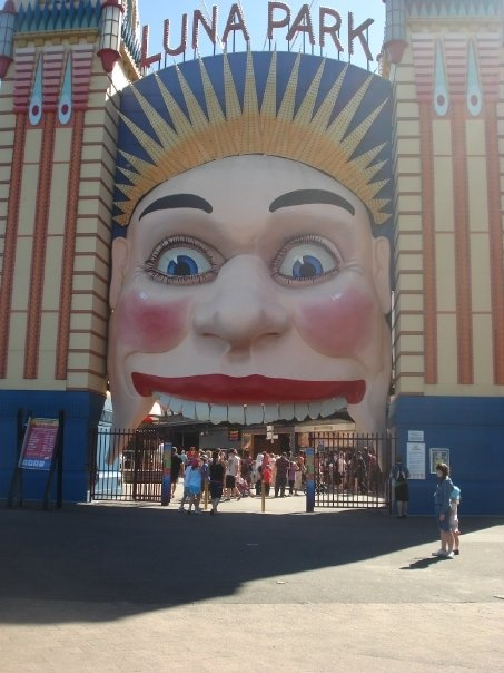 entrance to Luna Park, Sydney, Australia