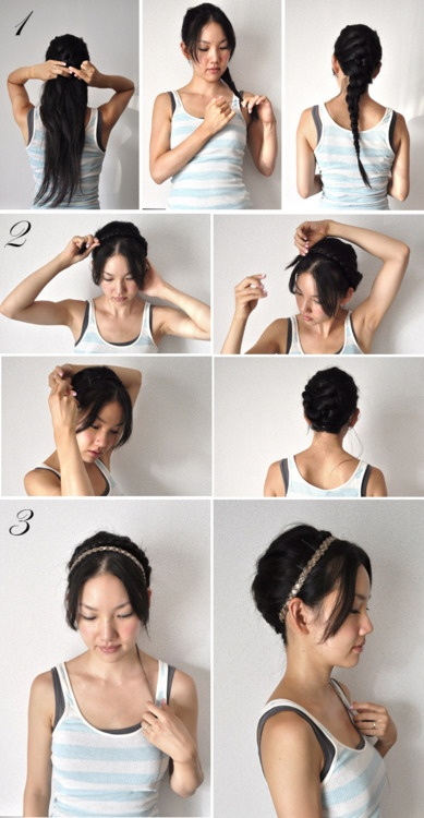 Love this for pinning up LONG hair: French Braids, Braids Hairstyles, Hair Colors, Braids Tutorials, Hair Tutorials, Milkmaid Braids, Long Hair, Girls Hairstyles, Hair Style