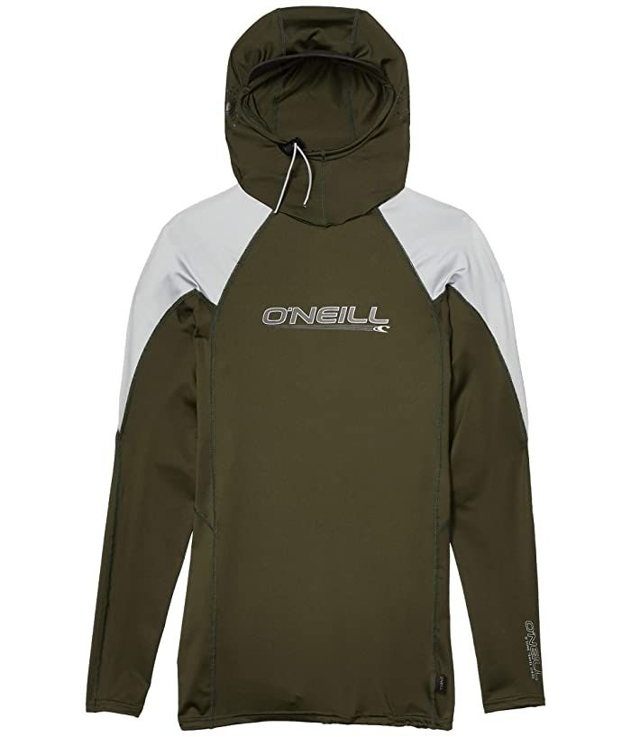O Neill Skins O Zone Long Sleeve W Hood Dark Olive Cool Grey Raven Men S Swimwear Enjoy The Flexibility And Supreme Quality In 2020 Tops Workout Wear Mens Swimwear
