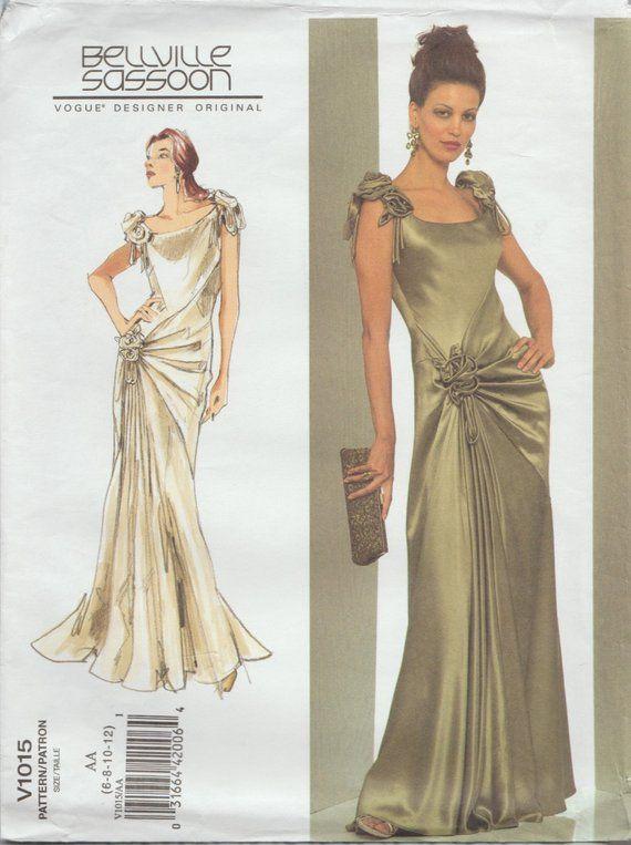 f59d935e4b0 Vogue 1015   Designer Original Sewing Pattern   By Bellville Sassoon    Evening Dress Gown   Sizes 6