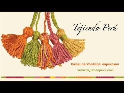 La técnica básica para hacer estas borlas que adornan tan lindo las prendas tejidas!!  http://www.tejiendoperu.com/