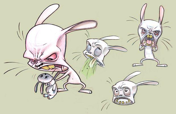 картинка злой заяц с двумя стволами жизни певицы