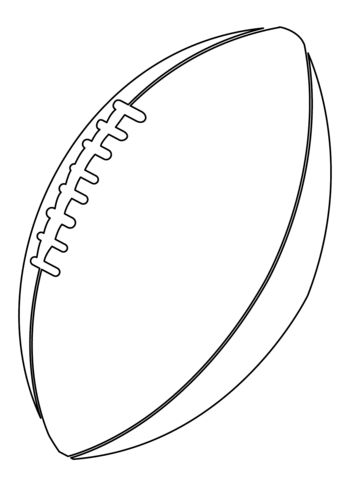 american football ball coloring page free printable coloring pages  football coloring pages