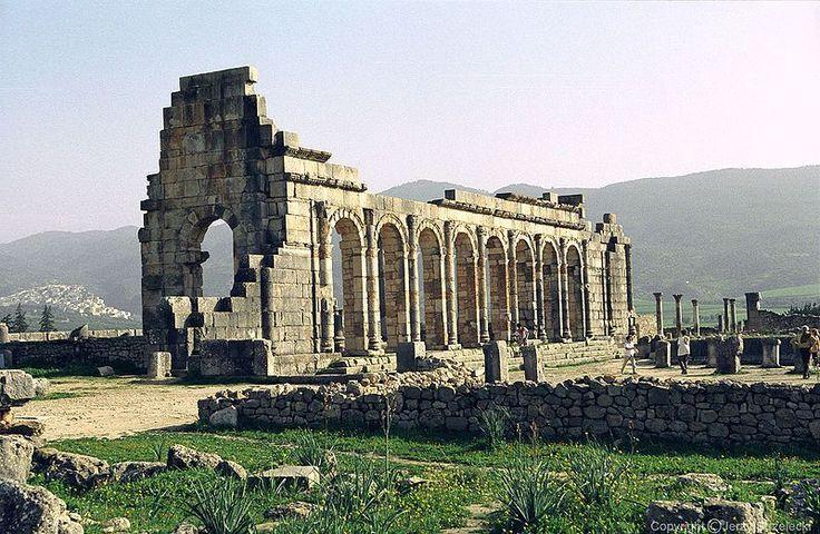 Sitio arqueológico de Volubilis Mequinez-Tafilalet Marruecos.