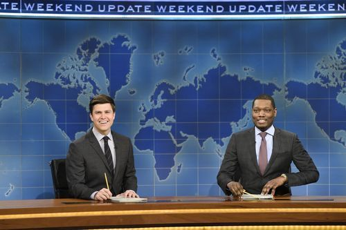 "TV tonight: SNL's 'Weekend Update,' 'Nashville'  Colin Jost and Michael Che during Weekend Update on 'SNL' in March(Photo: Will Heath, NBC) Saturday Night Live: Weekend UpdateNBC, 9 ET/PT Saturday Night Live is returning a bit earlier this year, with four primetime episodes of its ""Weekend Update"" news sketch. Colin Jost and Michael Che will anchor, with appearances by other cast members. Primetime versions of Weekend Update have aired before, sometimes tied to elections, but this is.."