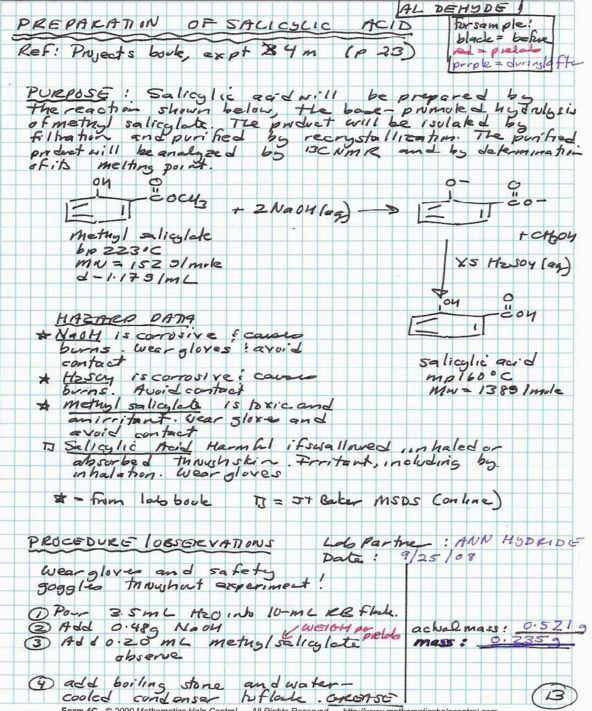 organic chemistry lab report 20042018 organic chemistry lab report 4021 words | 17 pages chem 2123 and 2125  more about this is a chemistry lab report on an acid-base titration experiment.