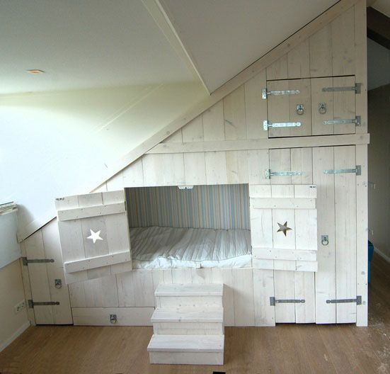 I always wanted a bed like this growing up, just a bit more glamorous though!
