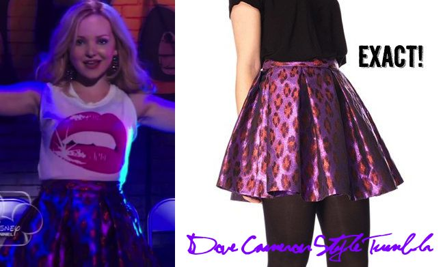"Dove as Liv wore this leopard print skirt in the pilot of Liv & Maddie ""Twin-A-Rooney"" (July 19, 2013) French Connection Disco Leopard Flared Skirt Sold Out"