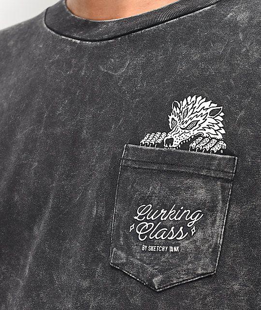 566802165cf2 Lurking Class by Sketchy Tank Wolf Pocket Black Tie Dye T-Shirt in 2019 |  Fashion | Black tie dye, Dye t shirt, Tie dye t shirts