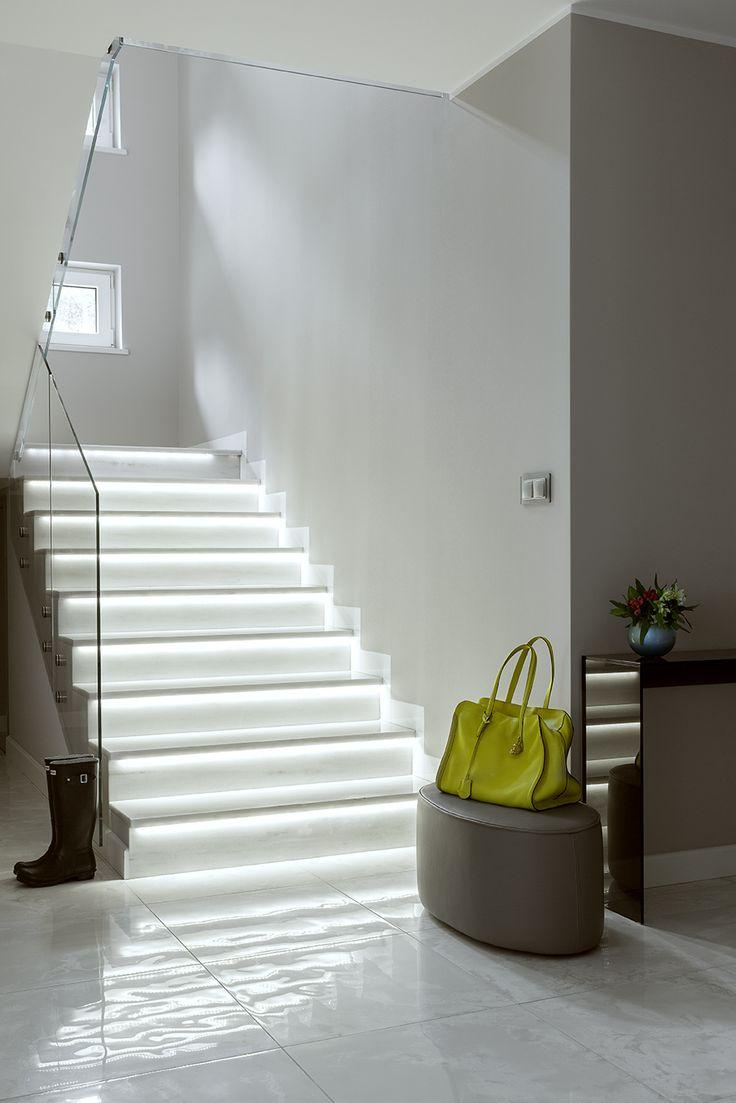 Highlighted marble stairs, hall, hunter, Alexander Mcqueen yellow handbag