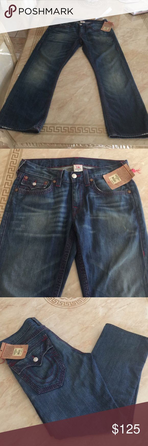 TRUE  RELIGIÓN STRAIGHT Very nice Jeans 👖Size 32 inseam 28 Reasonable offers welcome True Religion Jeans Straight