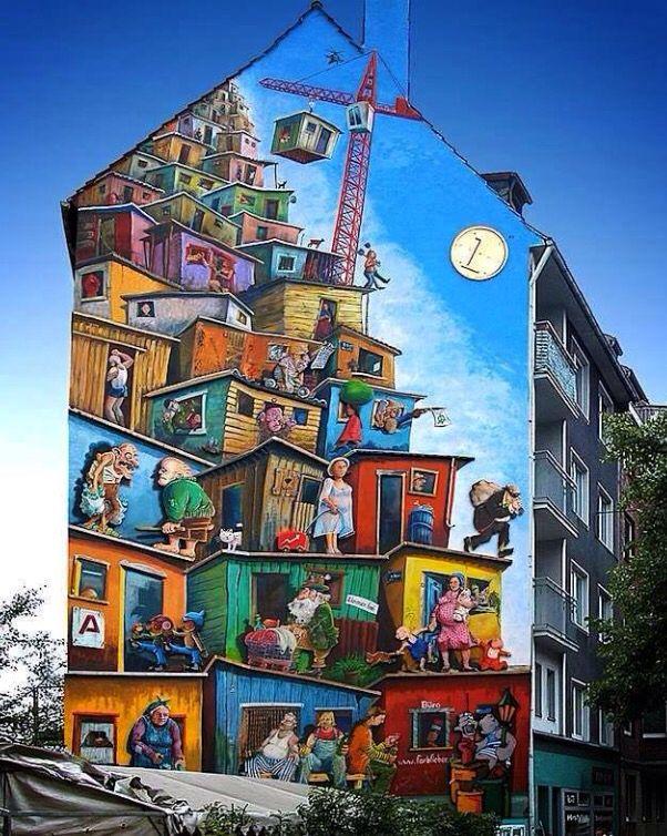 Fun inspiration for canvas. Klaus Klinger Germany. Vika
