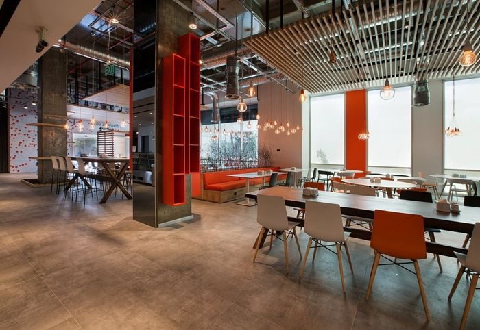 canteen and cafeteria space for ING Bank's Turkey Headquarters in Istanbul.