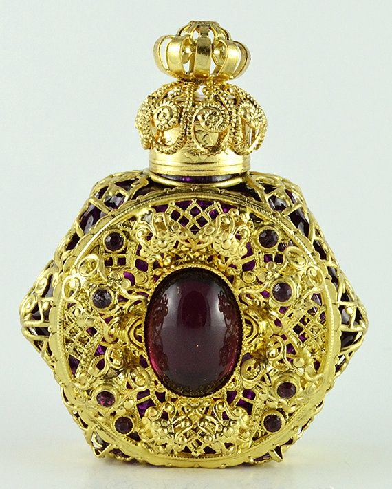 Vintage Vanity Rare Gold Tone Filigree Hand Made by chicandcharm, $29.00