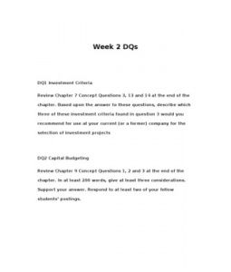 Review Chapter 7 Concept Questions 3, 13 and 14 at the end of the chapter. Based upon the answer to these questions, describe which three of these investment criteria found in question 3… (More)