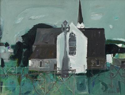 Church in Brittany 1963 by  Elizabeth Blackadder