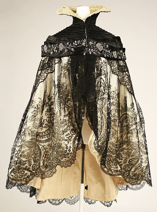 Ca.1900 French Silk and Cotton Evening Cape.