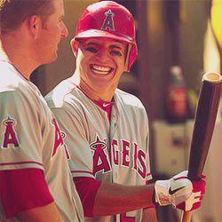 Mike Trout #rookieoftheyear #baseball #angels