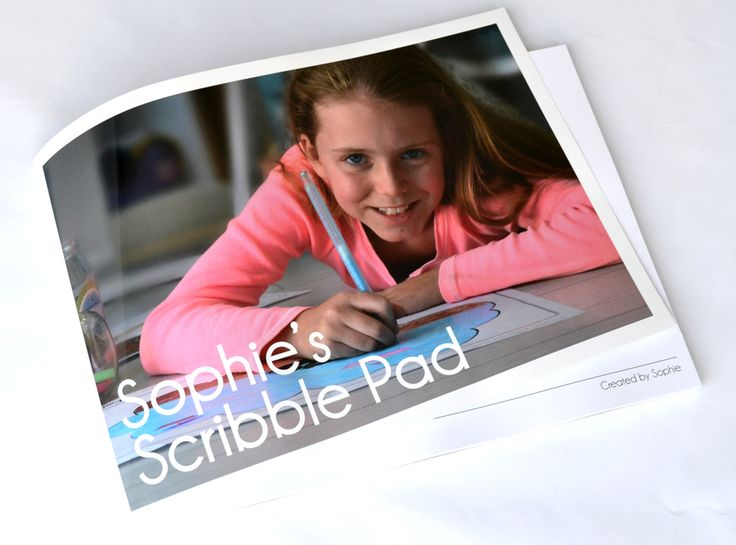 Macaroon's blank scribble pads are the perfect art accessory for any child who loves to draw and sketch - www.macaroon.co