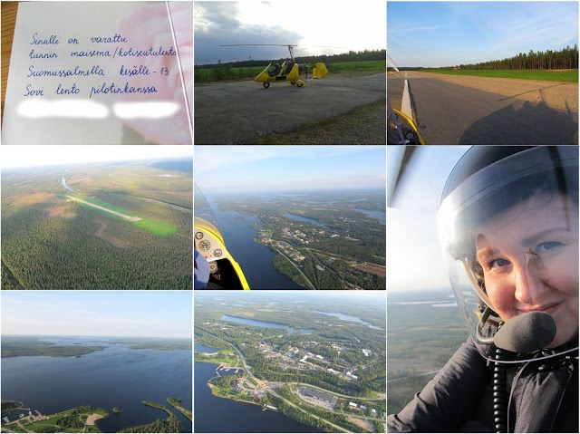 Flying with a gyrocopter in Suomussalmi, Finland.
