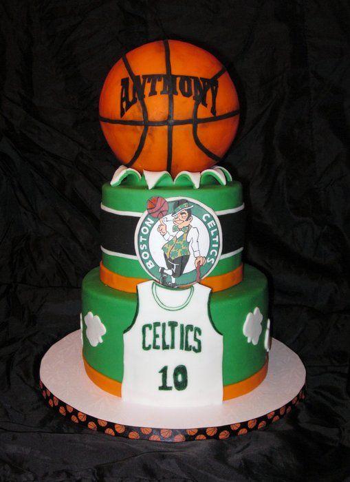 Celtics cake.  Next bday cake for the boy.