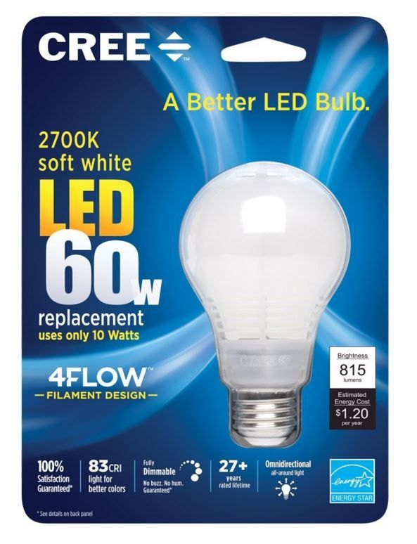 Cree Light Bulb ~ These light bulbs  cost $1.20 a year to run & last for 27 years!