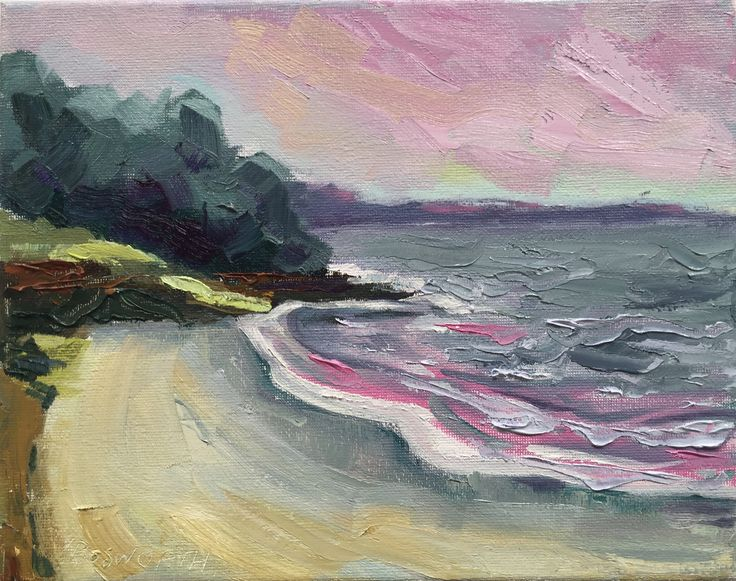 Vicki Bosworth Blackmans Bay II Oil on canvas 20 x 25.5cm