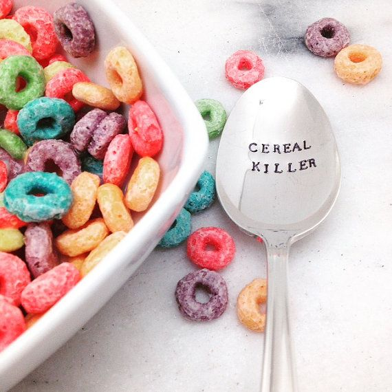 Cereal killer spoon, cereal spoon