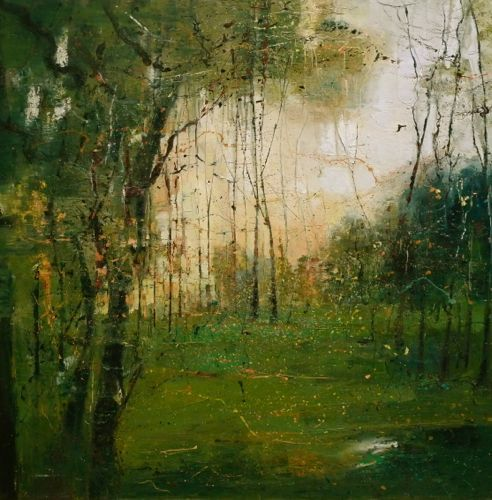 Claire Wiltsher - Illuminated Forest at Dawn