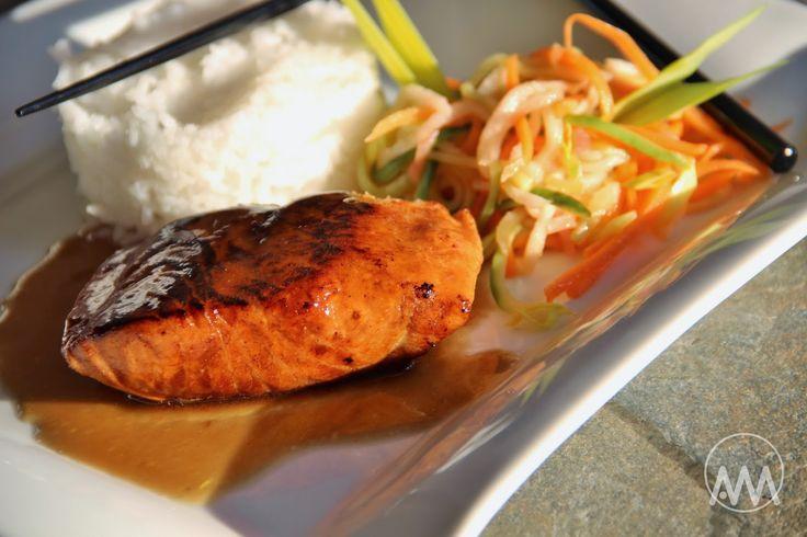 V kuchyni vždy otevřeno ...: Losos ( a pstruh lososovitý ) v teriyaki marinádě
