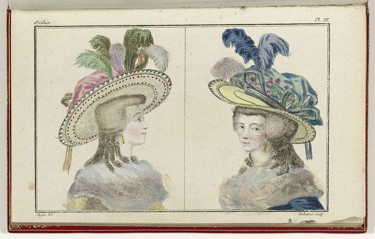 Cabinet des Modes ou les Modes Nouvelles, 1 Aout 1786, pl. III, A.B. Duhamel, Pugin, Buisson, 1786