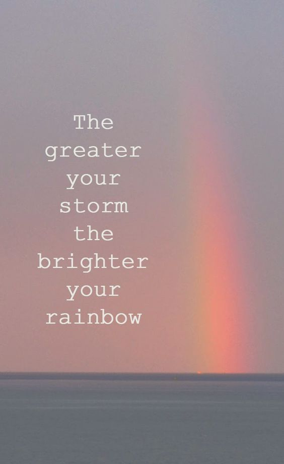 Isn't THAT WONDERFUL ??!!!... we all need a rainbow ....now and then ...would be a real blessing for sure !!... your rainbow is coming... hang in ...believe it and receive it !!! it is my wish for you and your family !!! ooooooooo : c ):