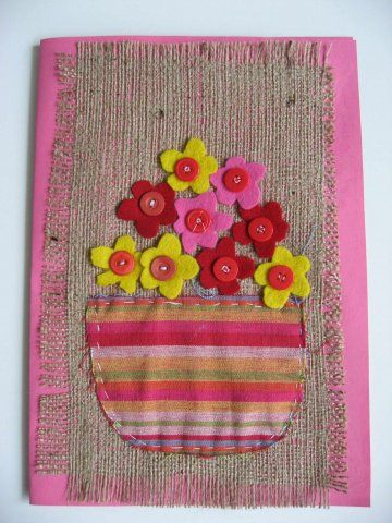 Could do this with the older one of my grand daughters as a beginner stitching project.
