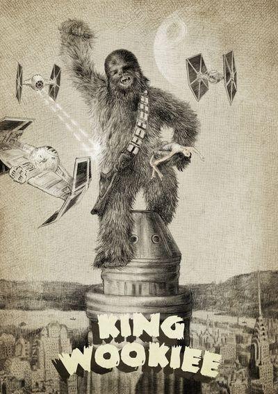 King Wookiee #starwars #chewbacca #kingkong