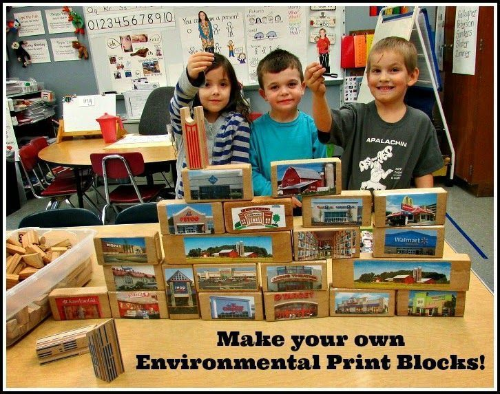 Environmental Print Block Center: This whole post is FILLED with FABULOUS, DEVEL…
