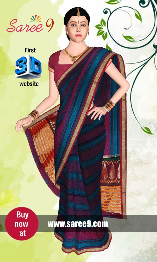 Saree9 is a concept which expresses the highest degree for Saree which is a tradiontional outfit for indian women. The focus is to create the virtual feel of Saree by emerging 3D technology. We proudly annouce that this is the first and fore most website developed in 3D technology for http://www.saree9.com/ Sarees. The rich user interface enables to experience the realistic feel of Saree worn by a virtual Model with no compromise in quality and fabric of the product.