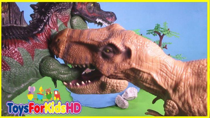 Videos de Dinosaurios para niños - Las Mejores Luchas de Dinosaurios de ...