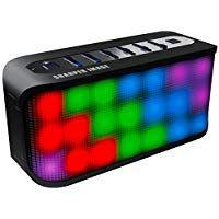 Sharper Image Sbt609xbk Bluetooth Speaker With Led Lights Portable