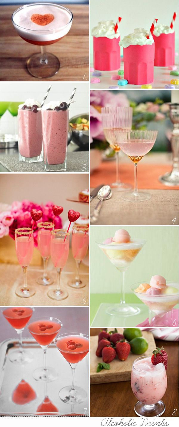 Yummy Valentine's Day Cocktails and Drinks Ideas | onefabday.com