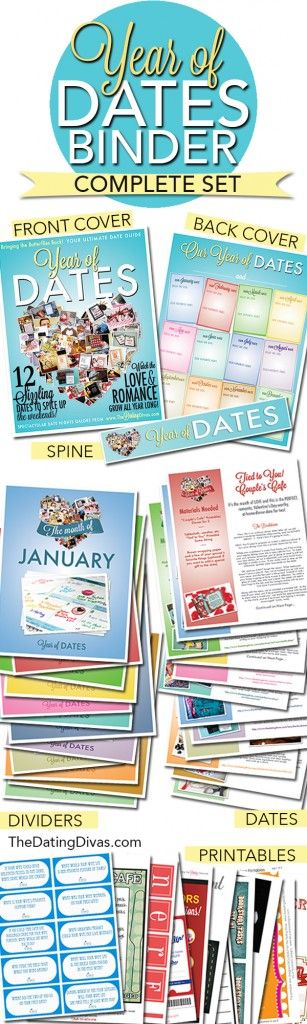 Year of Dates Binder
