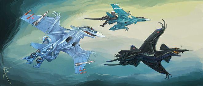ẢNH ẤN TƯỢNG: Chiến đấu cơ, xe tăng Nga bỗng chốc biến thành... quái vật thời tiền sử - Ảnh 2.