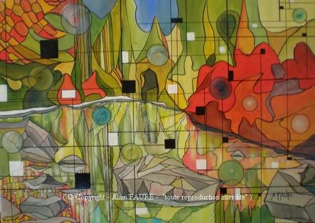 L'ETE INDIEN  Acrylique sur toile : 70 x 50.....550 € Les francophones du Canada l'appellent l'été des indiens, «une saison qui n'existe que dans le nord de l'Amérique» comme le chantait Joe Dassin. Ici, les grands espaces ont conservé leur pureté et où qu'ils soient, les nobles lacs reflètent par fierté et arrogance le fantastique décor qui les entoure.