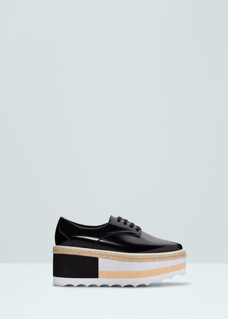Contrast platform shoes -  Women | MANGO
