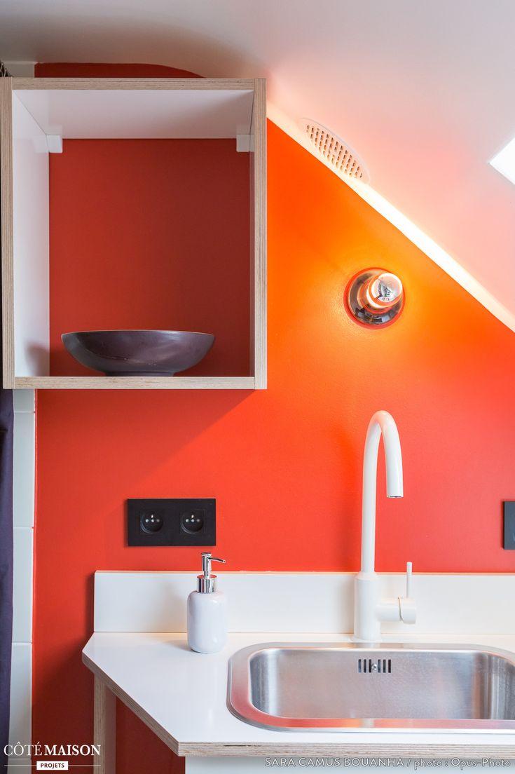 les 25 meilleures id es de la cat gorie salles de bains oranges sur pinterest d cor de salle. Black Bedroom Furniture Sets. Home Design Ideas