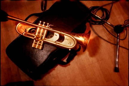 One of Wynton Marsalis' Monette trumpets, designed and built in Portland.